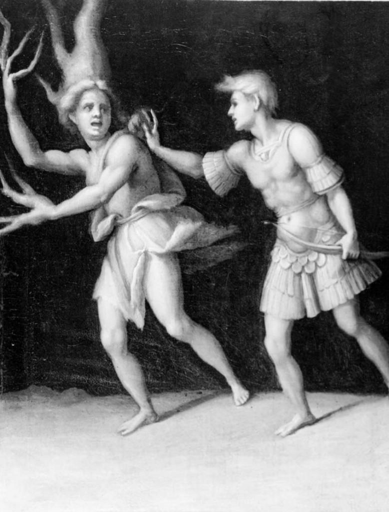 Daphne e Apolo - Jacopo Carucci, 1513. Fonte: Warburg Institute Iconographic Database