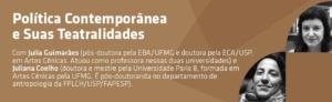 """Curso """"Política Contemporânea e suas Teatralidades"""" no SESC/SP"""